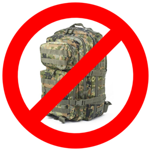 Camouflage 72 hour Bug Out bag