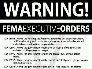 Executive Orders and Preppers