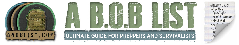 A BOB List - Ultimate guide for preppers and survivalists